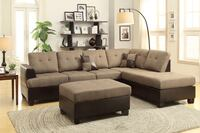 Brand new tan linen sectional sofa with ottoman  Silver Spring, 20902