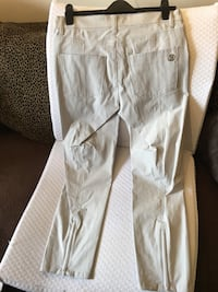 Cambio Light Grey Stretch Pant with zipper at back of leg. Almost new Toronto, M8V 4E8