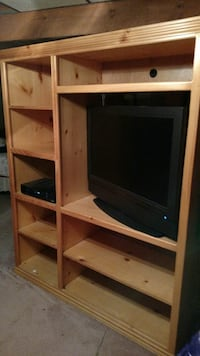 Solid wood entertainment center Fairfax