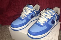 Nike Air Force 1 Blue and White size 11.