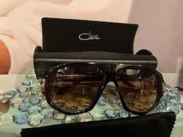Fashion sunglasses brown and gold