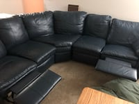 Blue leather sectional  Columbus, 43228