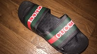 pair of green-and-red Gucci slide sandals Reston, 20190