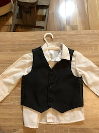 Baby Boy dress shirt with attached vest