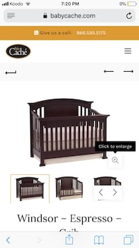 Baby cache Windsor expresso 4-1 convertible crib  Mississauga, L5B 4N5