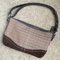 Authentic brown and gray Coach leather handbag Dothan, 36305