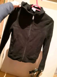 Black small womans zip up sweater