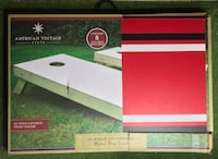 American Vintage Style: 10 Piece Collegiate Bean Bag Toss Set New York, 10456