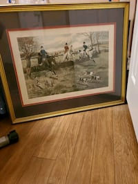 Framed Gdrrowlandson painting