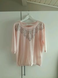 Gorgeus Pink Blouse with silver crystals  Trondheim, 7003