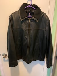 Chaps Mens 2 in 1 Leather Jacket with Detachable Fleece Sz. L $50 New Cleveland