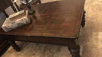 brown wooden 2-drawer table