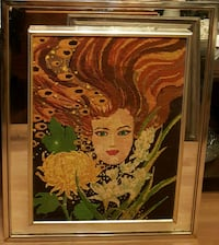 "Needlepoint on Mirror Frame 25""×31"" Queens, 11106"