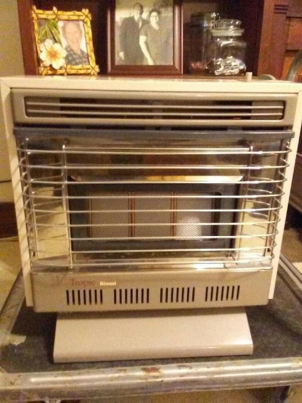 white and gray space heater