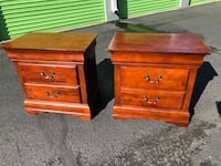 Nice Size Solid Wood Matching Nightstands