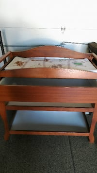brown wooden bunk bed with mattress ORCHARDPARK