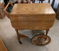 Oak tea table / cart