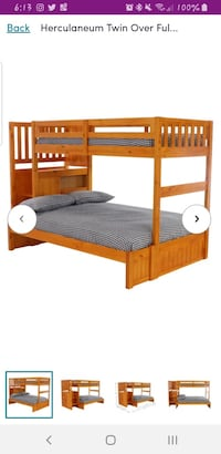 Kids bunk bed twin over full...cash*