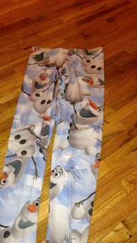 blue and white olaf print leggings and frozen shirt Crofton, 21114
