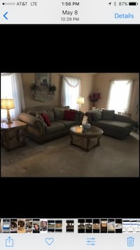 Living room suite with coffee table, end tables and lamps. Smoke free home but pet friendly.  Martinsburg, 25403