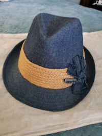 Denim Hat w/ Cream Accent Bowie, 20715