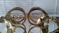 Beautiful vintage solid brass ram bookends  Broomfield