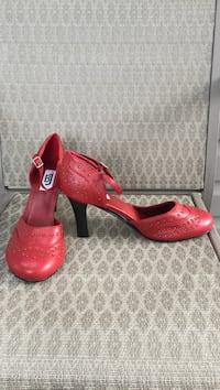 Size 9, fits larger, never worn maryjanes with gold stud detail  Lloydminster (Part), T9V 2T4