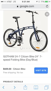 Black and gray citizen folding bike Alexandria, 22306