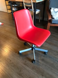 Red Rolling IKEA Chair Victoria, V9A 0C7