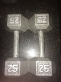 25 pound dumbell Lewisville, 75067