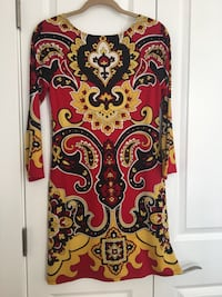 red, white, and black floral long sleeve dress Washington, 20001