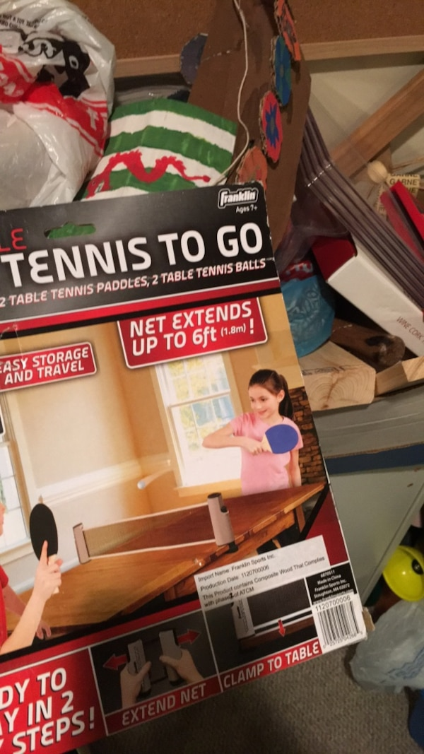 Table tennis/ping pong to-go set