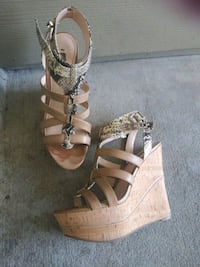 Guess wedge sandal heels