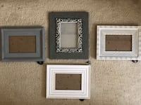 Set of 4 grey and white picture frames  Washington, 20001