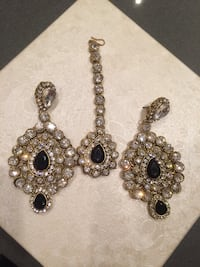 GLAM JEWELRY!  Earrings and Tikka embellished with quality stones Richmond, V6X