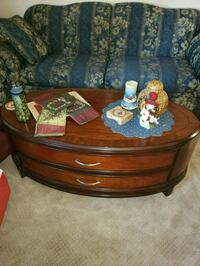 brown wooden framed coffee table Newport News, 23601