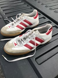 pair of white-and-red Adidas Samba shoes Bozeman, 59715