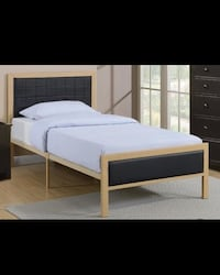 Upholstered panel bed - TWIN size Charlotte, 28262