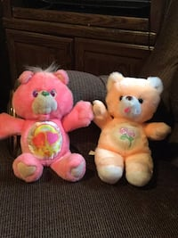 Two pink and yellow bear plush toys Washington, 20024