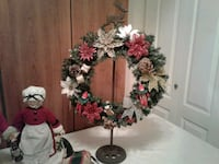 Christmas wreath on cast iron reindeer stand 3725 km