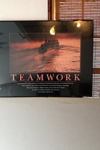 Teamwork Framed and matted poster. Goffstown, 03045