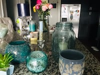Blue Home decor candle holders and candles! Edina, 55435