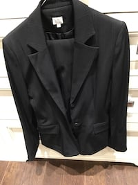 Black with pinstripe pant suit from Suzy Shier size 7