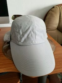 gray and white fitted cap Los Angeles, 90065