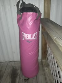 pink Everlast heavy punching bag