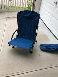 Beach chair or for park with cup holder. Folds into bag with strap New York, 11366