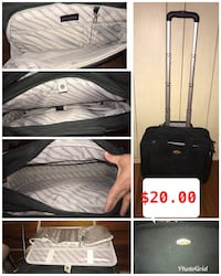 black and gray luggage bag collage Grand Prairie, 75052