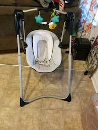baby's white and gray swing chair Baltimore, 21228