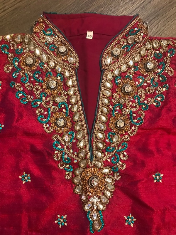 Indian suit. Worn once. Bought for $170 386c65f6-4090-4c00-aa74-ef48978e8666