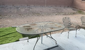 Patio Solid Rod  Iron table /chairs